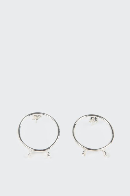 27mollys Fuck Cancer Earrings - Silver