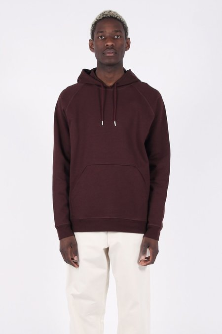 Norse Projects Ketel Dry Mercerized Hoodie - hematite red