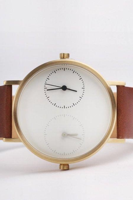 Kitmen Keung Long Distance 1.0 Classic Brown Calf Watch - Gold