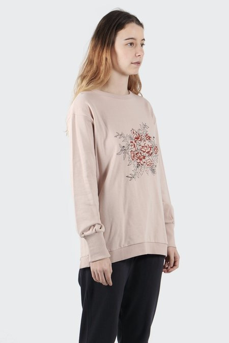 The Fifth Look Twice Sweater - pink sand