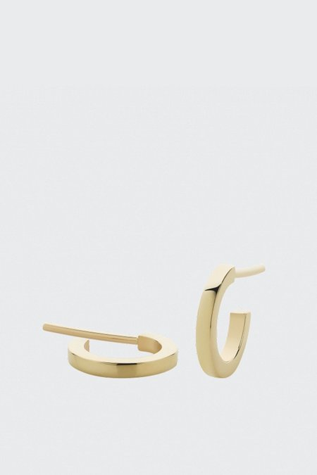 Meadowlark Medium Box Hoop Earrings - gold