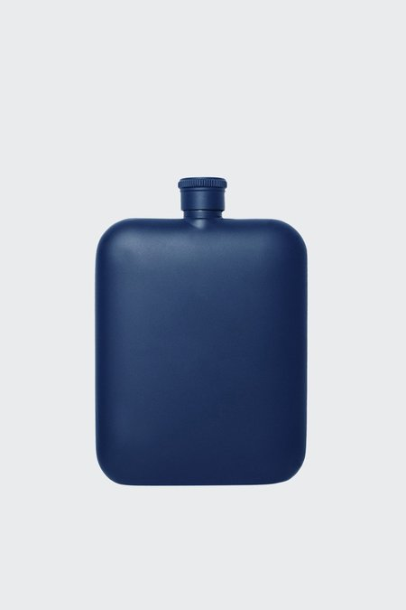 Izola Navy 6OZ Flask With Canvas Carrier