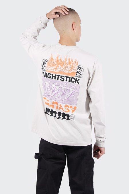Brain Dead Nightstick Fantasy Long Sleeve T-Shirt - Off white