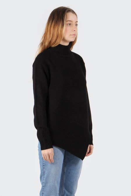 The Fifth The Call Out Knit Sweater - black