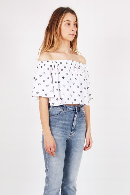 The Fifth Label The Seeker Top - Light Floral Deco Print