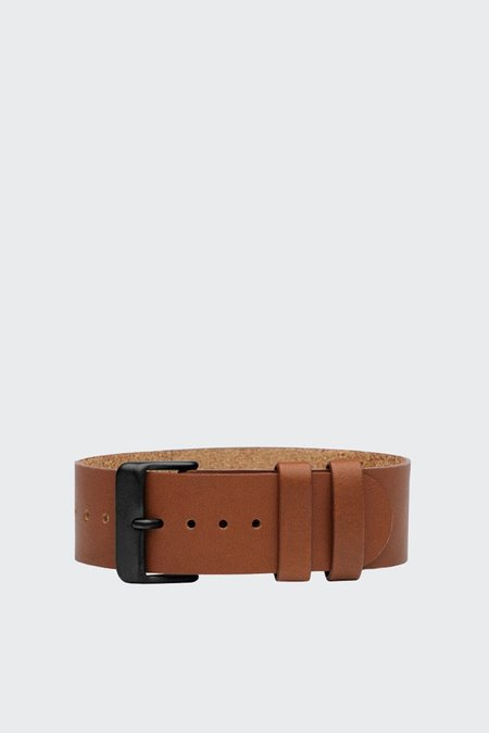 TID Watches Wristband - Tan Leather/Black Buckle