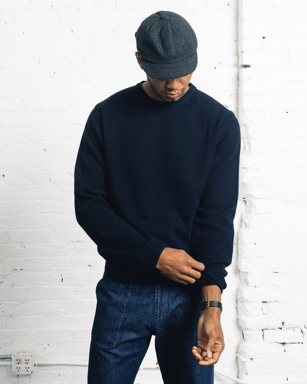 Norse Projects Sigfred Lambswool Sweater - Navy