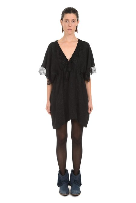 Lindsey Thornburg Black Scalloped Lace Dress