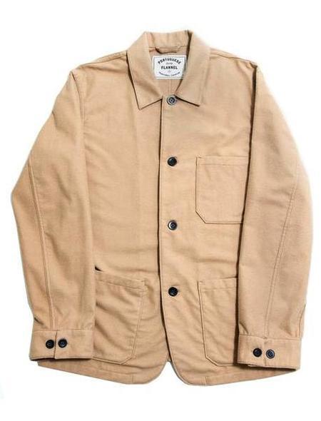 Portuguese Flannel Creme Pinheiro Shirt Jacket