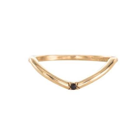 Mociun One Diamond Peak Gold Ring