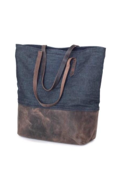 Sunday Supply Co. Mills Tote - Indigo/Chocolate