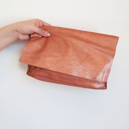 Tracey Tanner Carmen Clutch in Rose Gold Sparkle