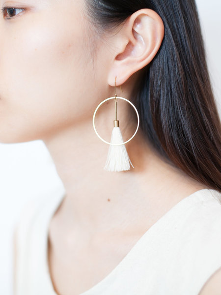 SASAI TASSEL HOOP EARRINGS