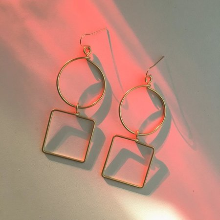 Hellbent Circle Square Earrings