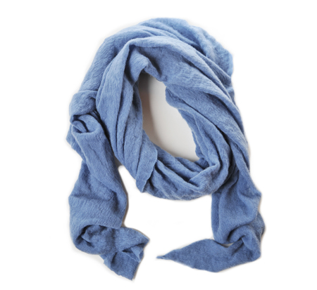 Botto Giuseppe Dusty Blue Diamond Shaped Cashmere Scarf
