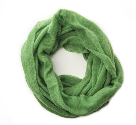 Botto Giuseppe Green Cashmere Tube Scarf