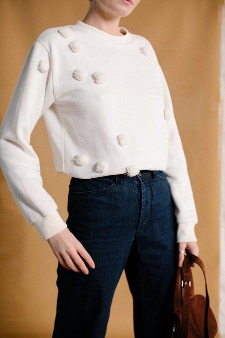 Correll Correll Pom Pom Sweatshirt - Natural