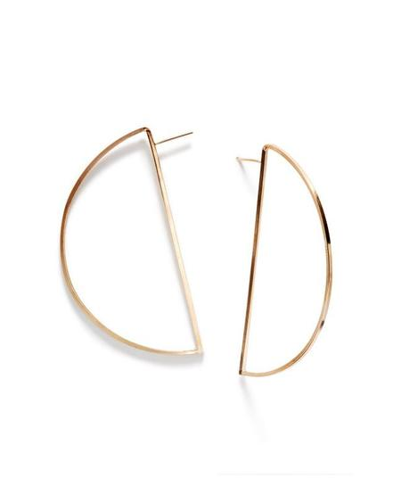 By Boe Wire Halfmoon Hoops Earrings - Gold
