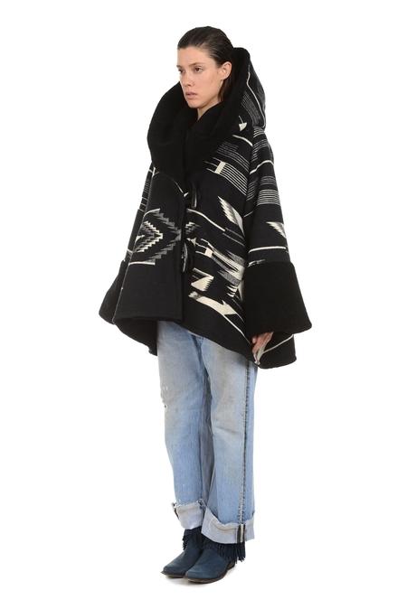 Lindsey Thornburg + Pendleton Tsi Mayo Shearling Trench Cloak