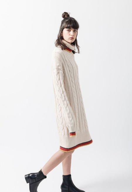 AGAIN Lotus Sweater Dress