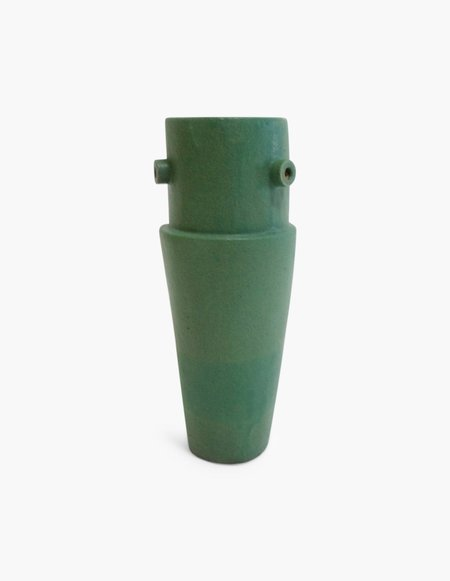 Bari Ziperstein Round Top Vase - Green