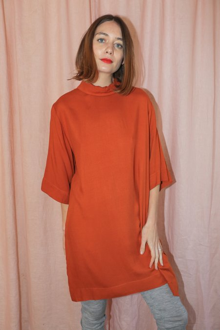 Toit Volant Annie Dress in Brick