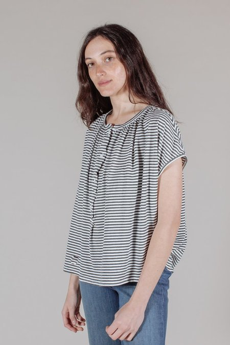 The Great The Knit Painters Tee in Smoke Stripe