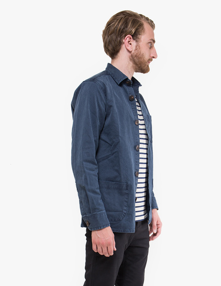 Schnayderman's Overdyed One Overshirt - Dark Blue