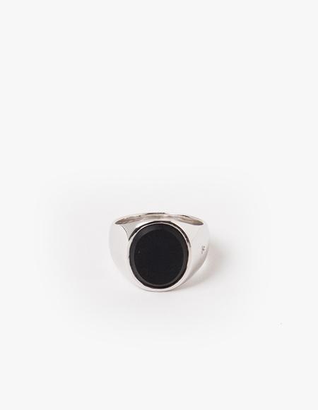 Tom Wood Oval Black Onyx Ring - Silver
