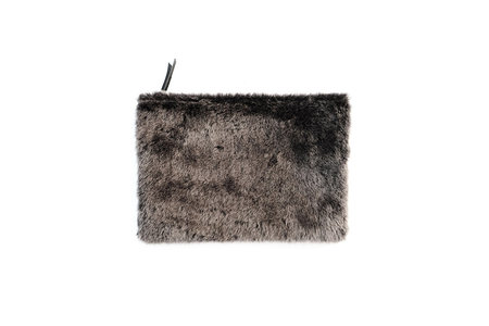 Primecut Grey Sheepskin Clutch