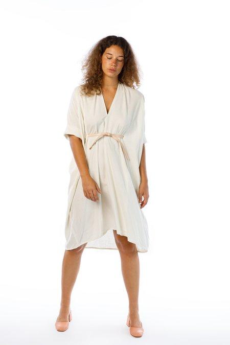 Miranda Bennett O'Keefe Dress - Silk Noil in Natural