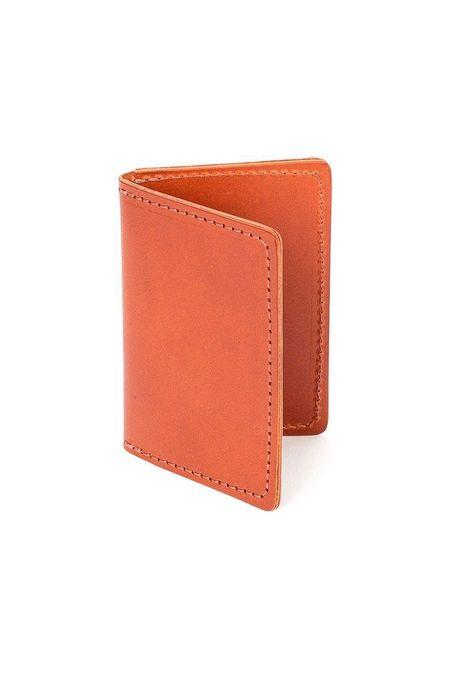 Wood&Faulk Front Pocket Wallet - Chestnut