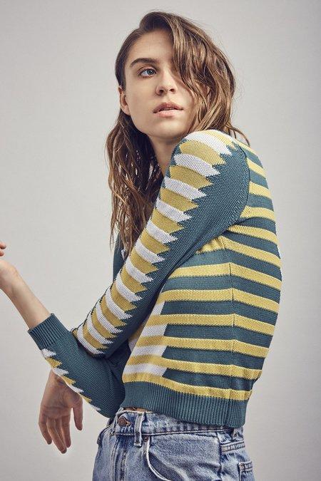 Mila Zovko Natalia Sweater - Green/Yellow/Gray