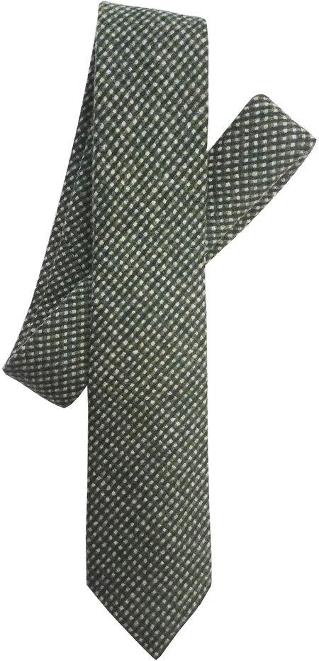 David Hart Green Hopsack Tie