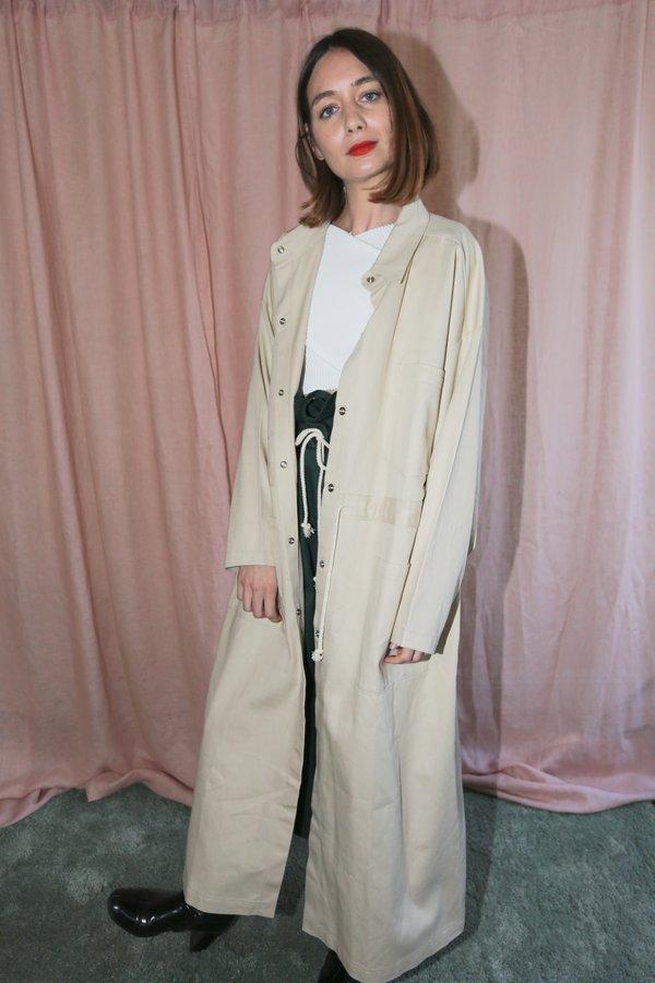 Desiree Klein Doran Coat in Sand Twill