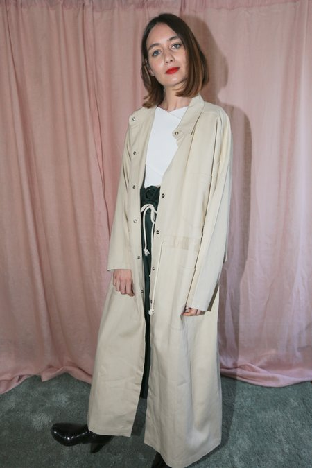 Desiree Klein Doran Coat in Sand Twill