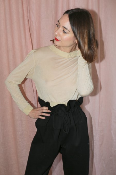 Desiree Klein Sarita Long Sleeve Top in Skin