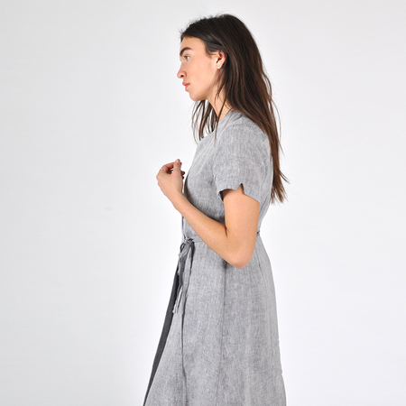 Nikki Chasin Leda Wrap Dress - Chambray