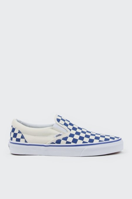 Vans Primary Check Classic Slip On - Blue