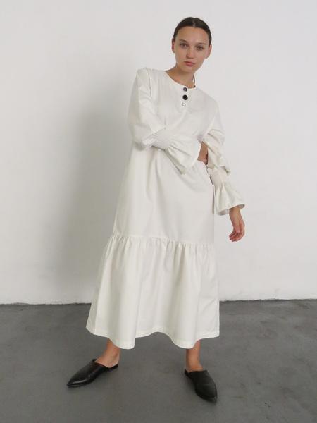 DELFINA BALDA HOPE DRESS - OFFWHITE
