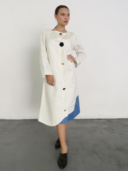 DELFINA BALDA LISSO DRESS - OFFWHITE