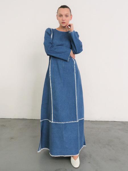 DELFINA BALDA PASSA DRESS - DENIM