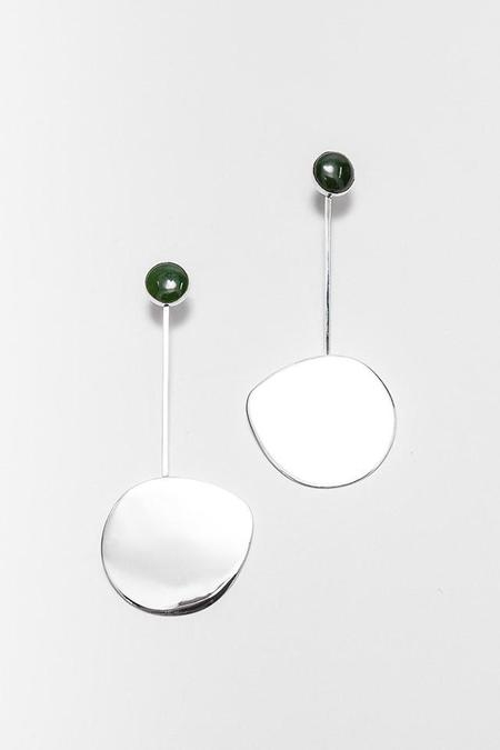 FARIS Pendo Drop Earrings in Sterling Silver/Jade