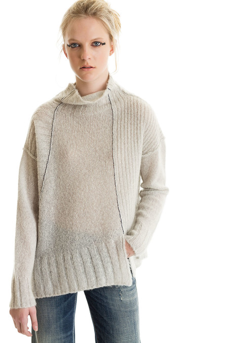 Paychi Guh Cashmere Mock Neck Pullover - Mist