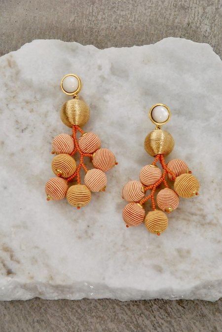 Lizzie Fortunato Meteor Earrings in Gold