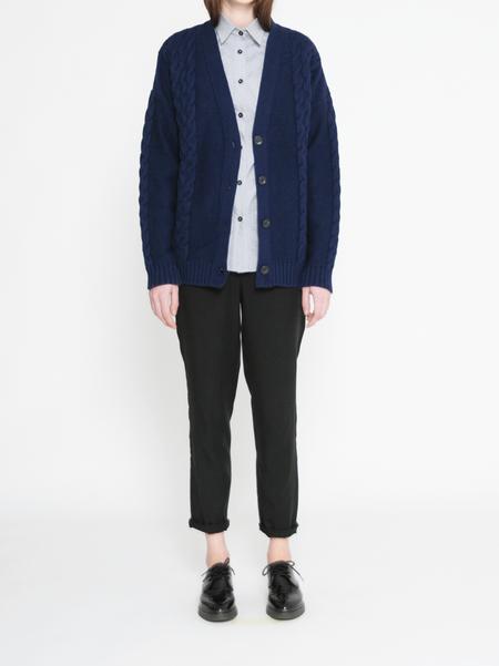 Diarte Cruxes Cashmere Blend Cable Knit Cardigan