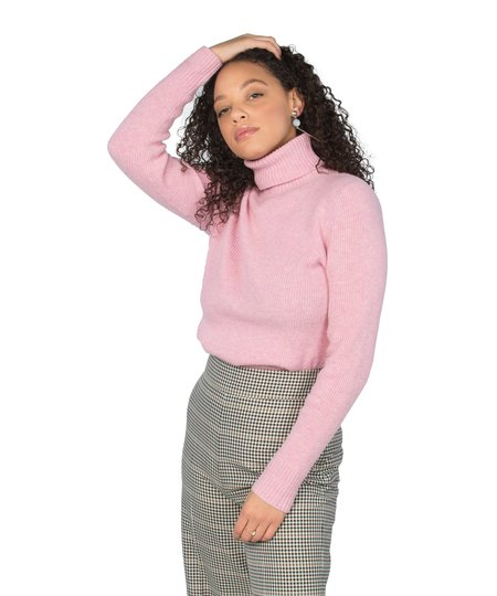 Ganni Sea Pink Mercer Roll Neck Sweater