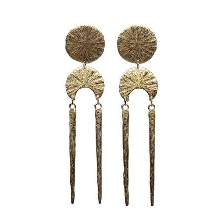Amanda Hunt Brass Oracle Earrings