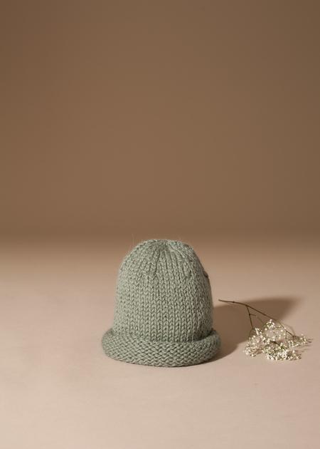 Tsuyumi Baby Alpaca Hand Knit Beanie - olive