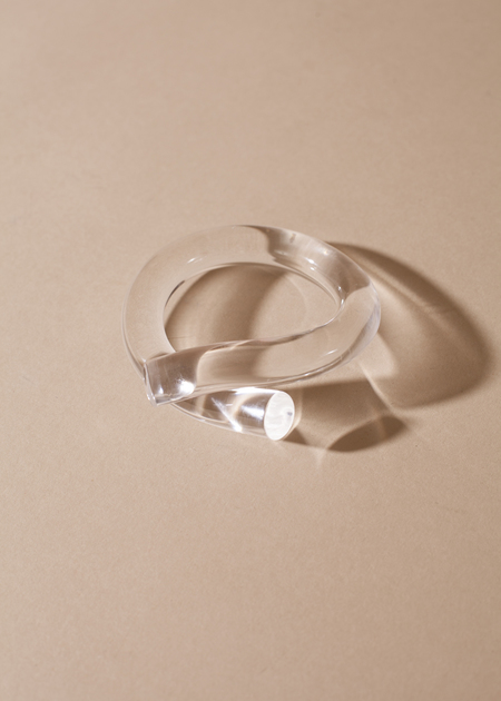 Corey Moranis Thick Rod Bangle - Clear